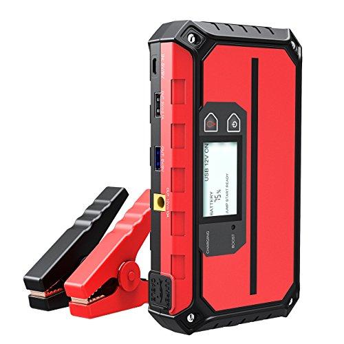 VicTsing Booster Batterie Portable 1000A Peak 20800mAh Jump Starter Démarreur de Voiture 12V Fonction Batterie Externe avec Ports de Charge Rapide Intelligents, Lampe de Poche LCD Intégrée et...