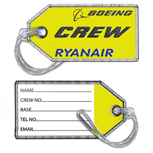Ryanair girocollo ricamato bagagli Tag x1