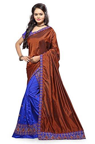 S. Kiran's Women's Assamese Maroon Chador Royal Blue Mekhela - Mekhla Sador