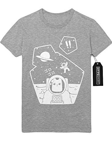 T-Shirt Grumpy Space Cat H549325 Grau (Kostüm Cat Grumpy)