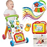 KinshopS Laufwagen Lauflernhilfe Baby Walker mit Musik 70 Lieder Zaubertafel Lichter Spielwagen Spielzeug Gehfrei Gehhilfe