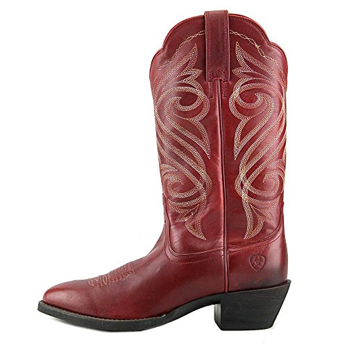 Ariat Round Up R Toe Cuir Santiags Warrior Red