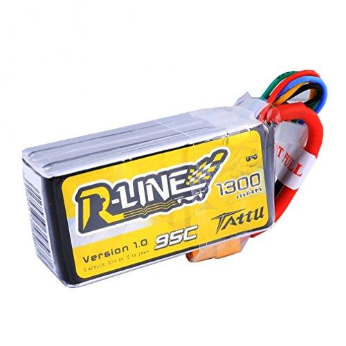 Tattu Rline Batería LiPo 14,8V 1300mAh 95C 4S Plug XT60 para el...