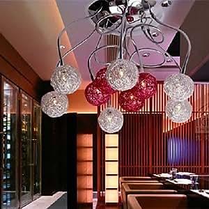 Plafonnier contemporain 200W avec 10 lumières et d'ombre Globe