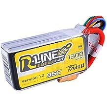 tattu Rline Lipo batería Pack 1300mAh 14.8V 95C 4S for FPV Racing Quadcopters Modelo de helicóptero Aviones y barcos