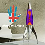 Rocket Lava Lamp in Violet Orange – The Original Telstar Rocket 50cm