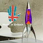 Rocket Lava Lamp in Violet Orange – The Original Telstar Rocket 50cm