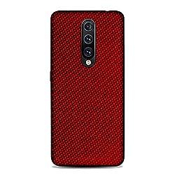 GOGODOG Kompatibel mit OnePlus 7 Pro Hülle Cases Cover Vollständige Abdeckung Ultra dünn Matte Anti-Rutsch Kratzen Beständig Mode Kohlefaser Softshell (rot)