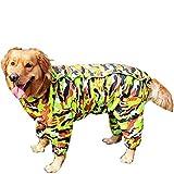 Treat Me Cane Impermeabile?Cappotto di pioggia impermeabile?Giacca da pioggia traspirante per piccolo medio cane cucciolo, Forêt camouflage, S