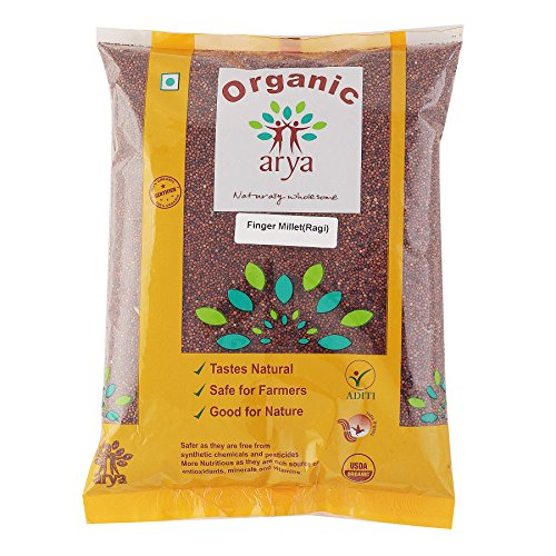 Arya Farm 100% Certified Organic Finger Millet (Sabut Nachni), 2kgs (Whole Ragi Seeds/Siridhanya / No Chemicals/No Pesticides/No Added Preservatives)