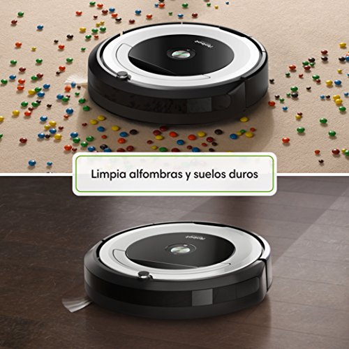 Irobot roomba 691 robot aspirador para suelos duros y alfombras con tecnolog a dirt detect - Robot aspirador alfombras ...