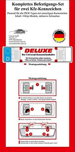 Zwei Rahmenlose Universal Kennzeichenhalter DELUXE für PKW Kennzeichen - 2