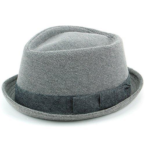 Hawkins gris coton porkpie chapeau