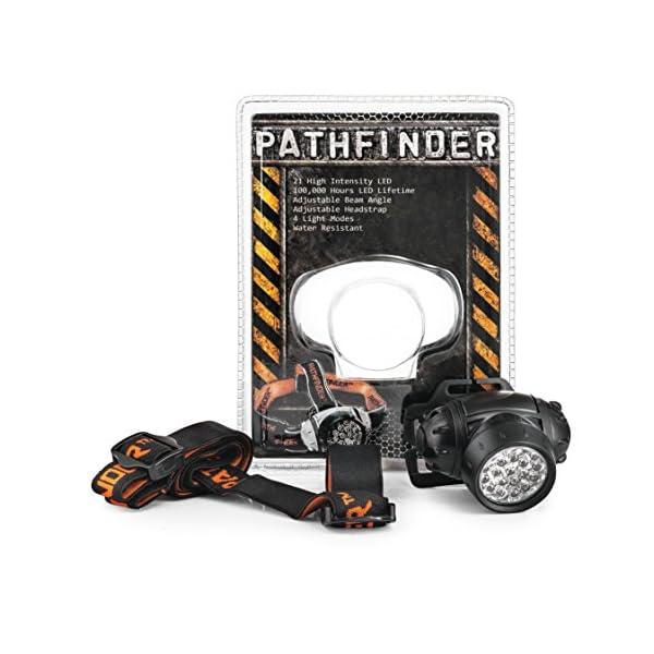 PATHFINDER 21 LED Headlamp Headlight Head Torch - Black 2