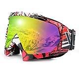 JamieWIN - Gafas de esquí Unisex para Motocicleta, Motocross y Motocicleta, para Hombres, Mujeres, jóvenes, C62