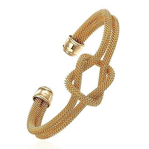 Styleziel Damen Armreif Armspange Knoten 18K gold pl 6cm 1516