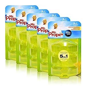 5x Mr.Proper Nachfüller Ambi Pur 5in1 Lemon & Lime WC-Stein flüssig, 3×55 ml