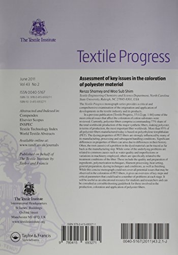 Assessment of Key Issues in the Coloration of Polyester Material (Textile Progress)