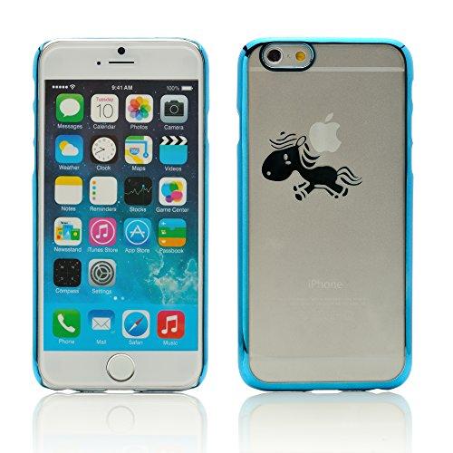 iProtect Schutzhülle Apple iPhone 6, 6s (4,7'') Hülle Totenkopf Skull Star Design in schwarz Blau Pferdchen