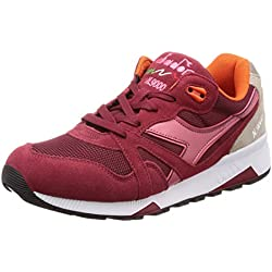 Diadora N9000 Iii, Zapatillas de Deporte Unisex Adulto, Multicolor (Biking Red/Slate Rose C7739), 39 EU