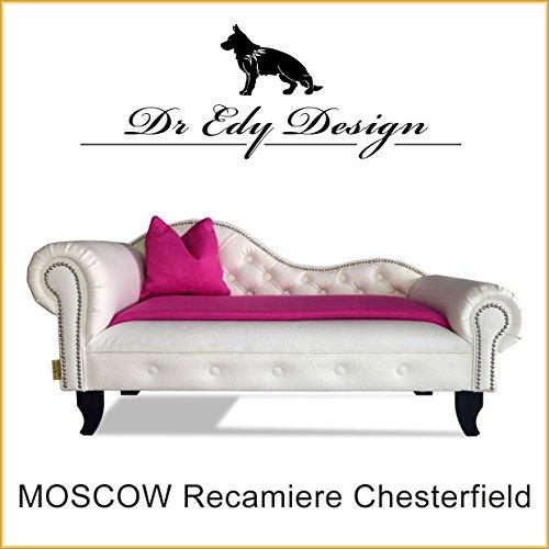 Dr Edy Design Hundesofa Chesterfield Recamiere MOSCOW XXL Hundebett Chaiselongues mit Decke