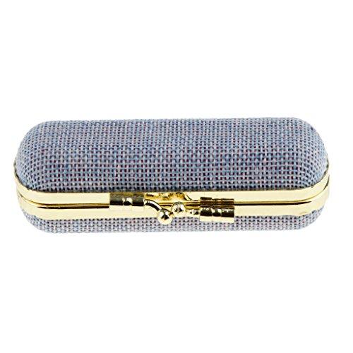 MagiDeal Lippenstiftbox Lippenstift-Etui mit Spiegel und Druckknopfverschluss, Exquisit Design,...