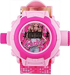S S TRADERS - Barbie 24 Different Images Projector Digital Toy Watch for Kids - Good Return Gift