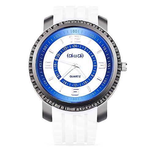 Smileyes Damenuhr Leder Armband Kupfer Armbanduhr Quarz Analog Uhr #TSW019G.01A (Herren-leder-kupfer-armband)
