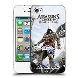 Head Case Designs Offizielle Assassin's Creed Edward Schwert Schwarze Fahne Schluessel Kunst Ruckseite Hülle für iPhone 4 / iPhone 4S