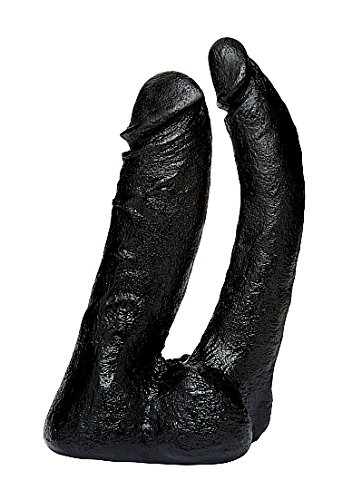 Vac-U-Lock Code The Naturals Double Penetrator Dildo Realista Doble Color Negro - 360 gr