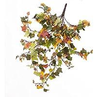 Cespuglio d'edera decorativo con 290 foglie in verde autunnale, 55 cm - Cespuglio ornamentale / Edera artificiale - artplants