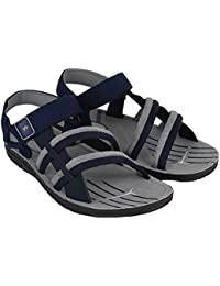 Camfoot Men's Grey & Blue EVA Sandals & Floaters