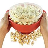 Silicone Bucket Microwave Popcorn Popper Bucket With Lid Popcorn Maker Popcorn Bowl For Home...