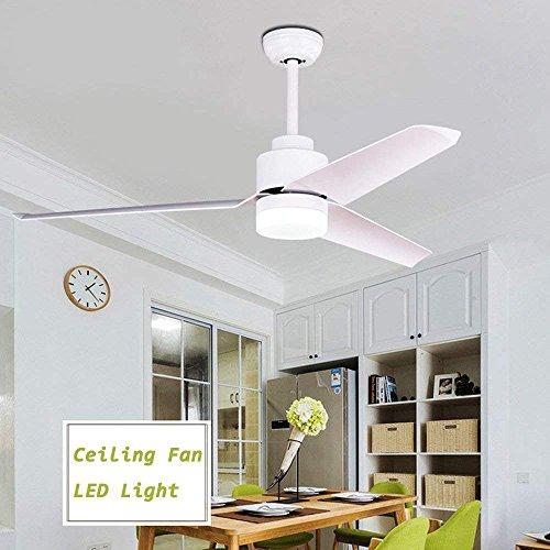 GAOLI Ventilator Kronleuchter 51 Zoll Deckenventilator Licht Hause Schmiedeeisen Abs Blatt Ventilator Beleuchtung Wickelmaschine Hängen LED-Licht Fernbedienung Kronleuchter Weiß (Ganzen Haus, Deckenventilatoren)