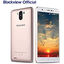 Moviles Baratos Libres, Blackview R6 Lite Dual SIM 3G Smartphone libre (Android 7.0, 5,5 pulgadas, Quad Core, 1GB RAM, 16GB ROM, 3000mAh, 8MP Cámara) GPS, WIFI, Bluetooth 4.0 - Oro