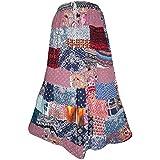 Mogul Interior Ladies Long Skirt Vintage Patchwork Rayon Boho Gypsy Large