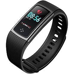 Desconocido LEMFO LT01 - Pulsera de Fitness (Pantalla LCD a Color, IP67, Resistente al Agua), Color Negro