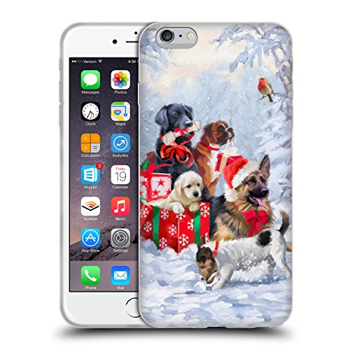 Ufficiale The Macneil Studio Cucciolo E Palla Animali Di Natale Cover Morbida In Gel Per Apple iPhone 6 Plus / 6s Plus Cane
