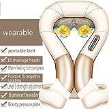 JMung Schulter Massagegerät Elektrische Nacken mit Infrarotheizung und Tiefenmassage für Hals-, Schulter- und Rückenmüdigkeit, Steifheit und Schmerzlinderung,C