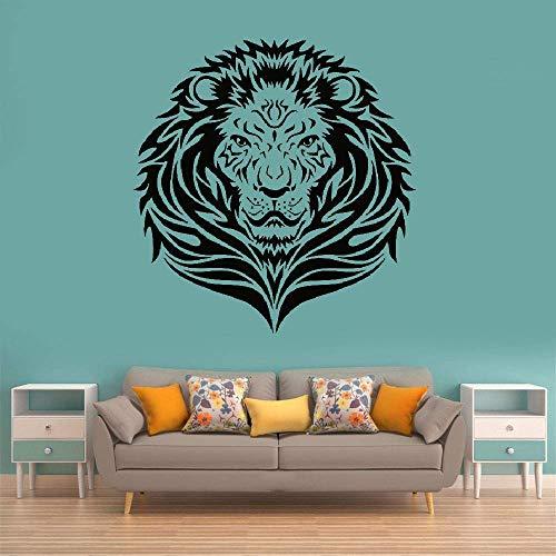 Wandtattoo Schlafzimmer Löwenkopf Löwe Wohnzimmer afrikanische Dschungel Tiere Safari Dekor (Safari-dekor Für Wohnzimmer)