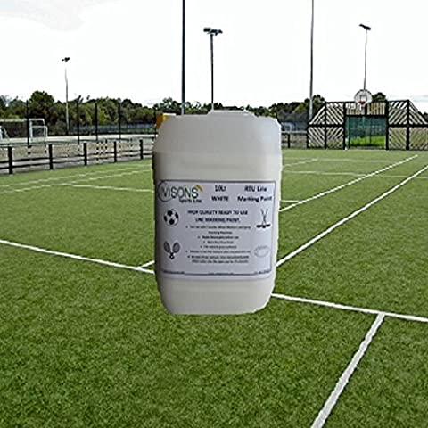 2 x 10 Lt Pitch Grass Line Marking Paint White Ready To Use Sports Line