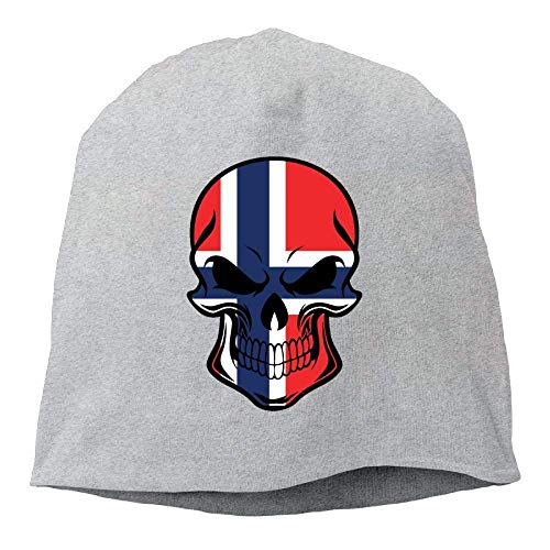 Skull Beanie Hat Norwegian Flag Skull Mens Warm Winter Watch Cap Cool ny cap Winter Watch Cap