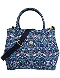 Bonfanti Liberty Strawberry Thief Grab Tote Bag Shoulder Handbag - Blue