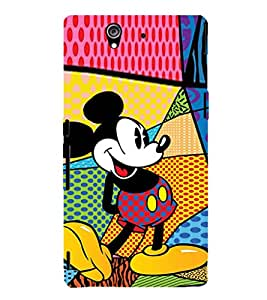 EPICCASE funny mickey Mobile Back Case Cover For Sony Xperia Z (Designer Case)