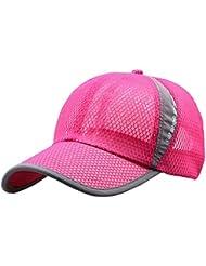 Kukul Gorras Para Mujer y Hombre Sombrero de deportes al aire libre Gorras Para Tenis, Béisbol, Ciclismo y otros deportes (Rosa caliente)