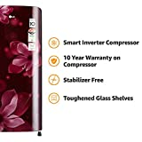 LG 190 L 4 Star Direct Cool Single Door Refrigerator(GL-B201ASOX.ASOZEBN, Scarlet orchid, Inverter Compressor)