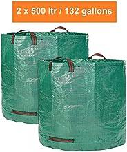 Saco de jardín XXL-2Profesional jardín bolsas de residuos-Cada 500litros con doble suelo de robusern-Laub Saco-nadar color de calidad premium
