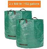 GloryTec XXLGartensäcke 2x 500l - Premium Gartensack-Set