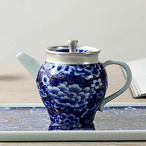 HE-Cup Teeset, Reisetosset mit Einem Topf und sechs Cups Sterling Silber Kung Fu Tea Set Exquisite Luxus