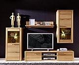 Stella Trading TV-Wohnlösung Kernbuche teilmassiv, buche, Braun, 45 x 260 x 194 cm